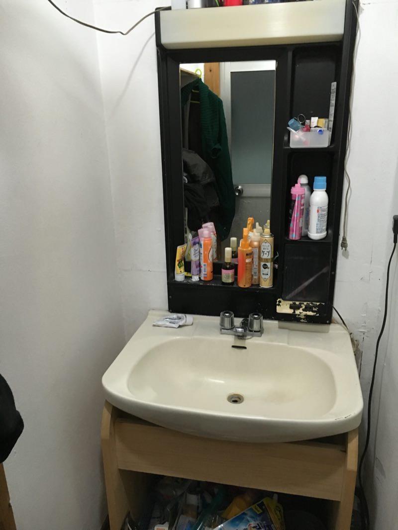 洗面台のセルフdiy画像1