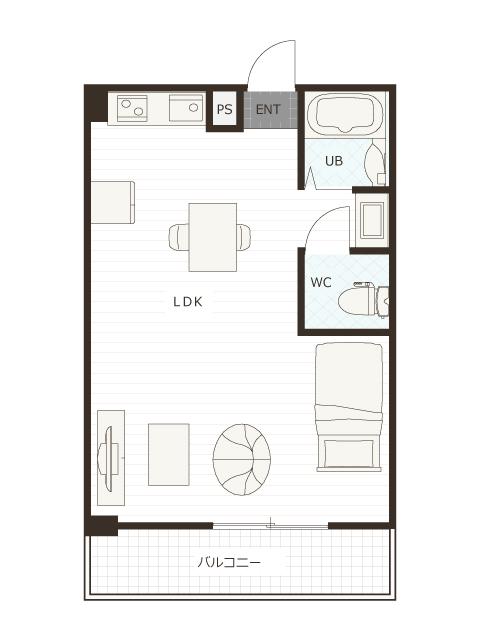 廿代プロジェクト 402号室のプラン